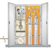 窒素ガス圧エンジン・ゲート開閉装置